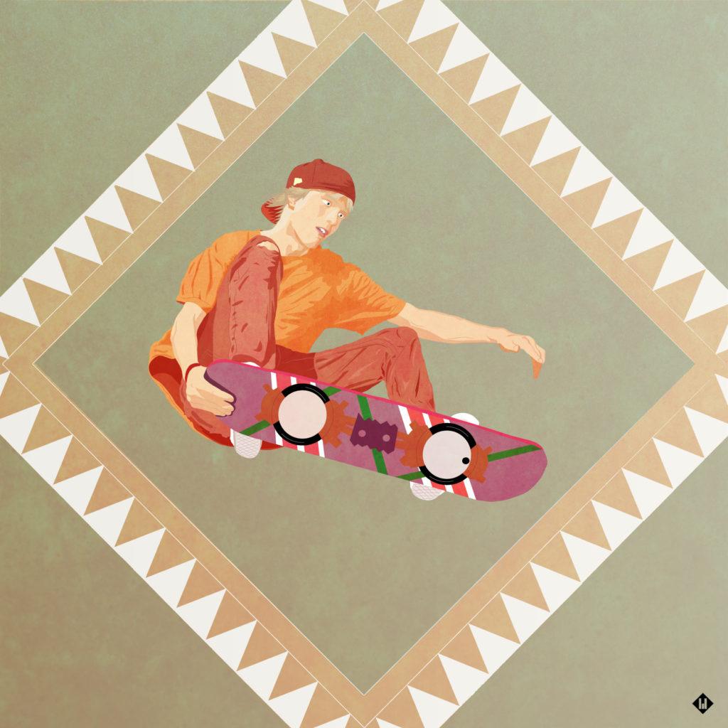 illustration hoverboard