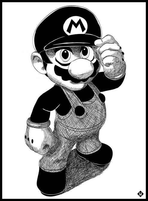 mario illustration manga